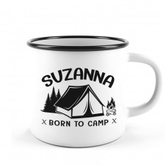 Hampers and Gifts to the UK - Send the Personalised Born to Camp Camping Mug