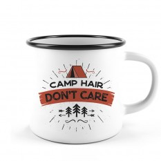 Hampers and Gifts to the UK - Send the Camp Hair Don't Care Camping Mug
