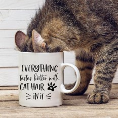 Hampers and Gifts to the UK - Send the Everything Tastes Better With Cat Hair In It Mug