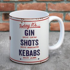 Hampers and Gifts to the UK - Send the Gin, Shots and Kebabs Mug