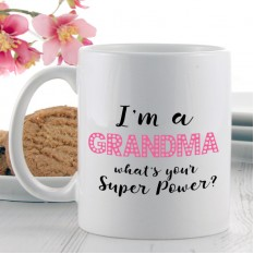 Hampers and Gifts to the UK - Send the I'm a Grandma Super Power Mug
