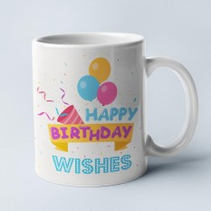 Hampers and Gifts to the UK - Send the Happy Birthday Wishes Mug