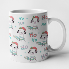 Hampers and Gifts to the UK - Send the Ho Ho Ho Festive LLama Mug