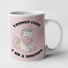 Hampers and Gifts to the UK - Send the I Donut Care I Am A Unicorn Mug