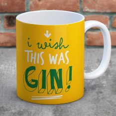 Hampers and Gifts to the UK - Send the I Wish This Was Gin Mug