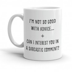 Hampers and Gifts to the UK - Send the I'm Not So Good With Advice... Mug