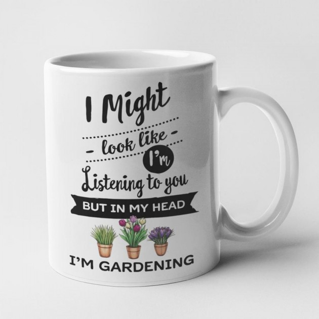 Hampers and Gifts to the UK - Send the In My Head I'm Gardening Mug
