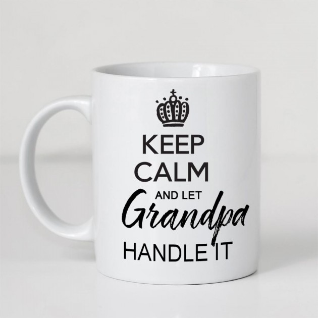 Hampers and Gifts to the UK - Send the Keep Calm and Let Grandpa Handle It Mug