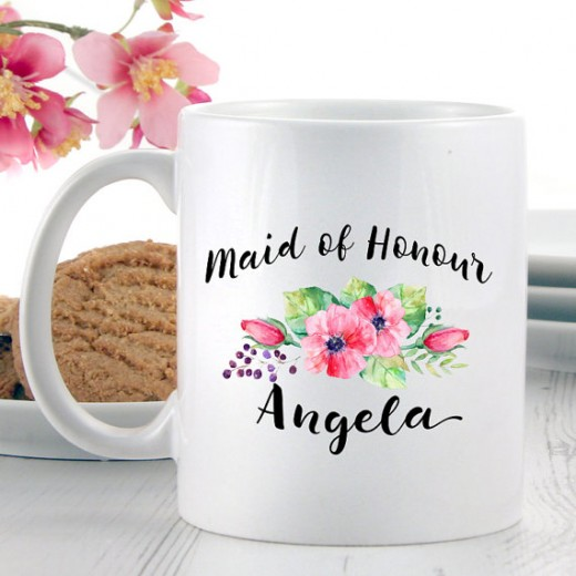 Hampers and Gifts to the UK - Send the Personalised Maid of Honour Mug