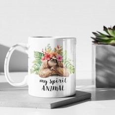 Hampers and Gifts to the UK - Send the My Spirit Animal Sloth Mug