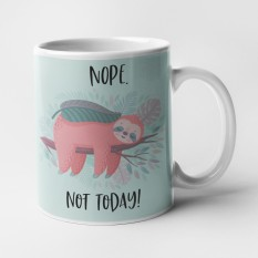 Hampers and Gifts to the UK - Send the Nope Not Today Sloth Mug
