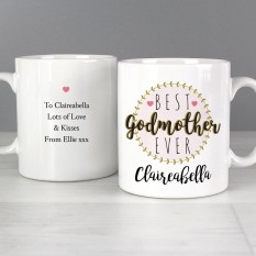Hampers and Gifts to the UK - Send the Personalised 'Best Godmother' Mug
