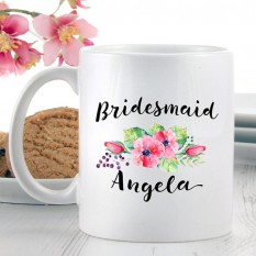 Hampers and Gifts to the UK - Send the Personalised Bridesmaid Mug