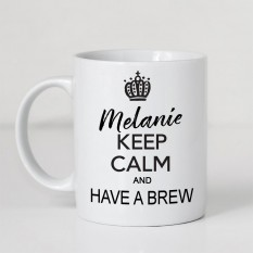 Hampers and Gifts to the UK - Send the Personalised Keep Calm and Have a Brew Mug