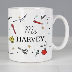 Hampers and Gifts to the UK - Send the Personalised Name School Teachers Mug