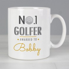 Hampers and Gifts to the UK - Send the Personalised No.1 Golf Fan Mug