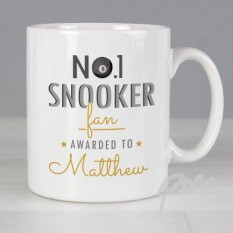 Hampers and Gifts to the UK - Send the Personalised No.1 Snooker Fan Mug