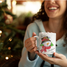 Hampers and Gifts to the UK - Send the Personalised Snowman Mug