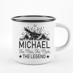 Hampers and Gifts to the UK - Send the Personalised The Man The Myth Camping Mug