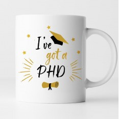 Hampers and Gifts to the UK - Send the I've Got a PhD Scroll and Hat Mug