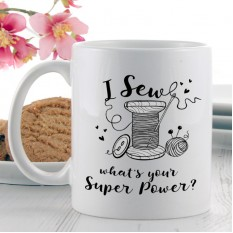 Hampers and Gifts to the UK - Send the I Sew Super Power Mug