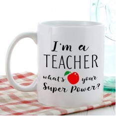 Hampers and Gifts to the UK - Send the I Teach Super Power Mug