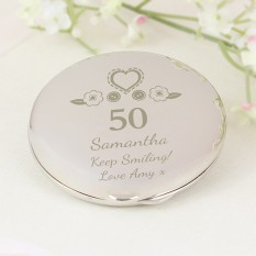Hampers and Gifts to the UK - Send the Personalised Birthday Craft Compact Mirror