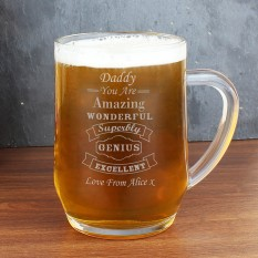 Hampers and Gifts to the UK - Send the Personalised Vintage Typography Tankard