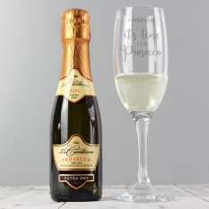 Hampers and Gifts to the UK - Send the Personalised Its Time for Prosecco Gift Set