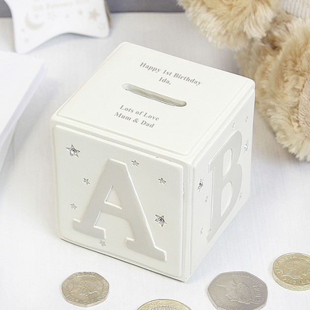 Hampers and Gifts to the UK - Send the Personalised Twinkle Twinkle ABC Money Box