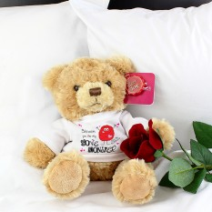 Hampers and Gifts to the UK - Send the Personalised Love Monster Teddy Bear