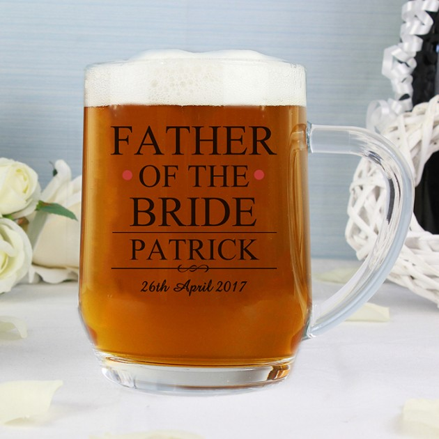 Hampers and Gifts to the UK - Send the Father of the Bride Tankard - Personalised