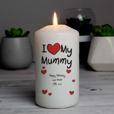 Hampers and Gifts to the UK - Send the Personalised I Heart My Any Name Candle