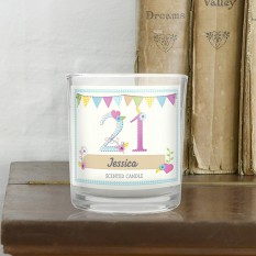 Hampers and Gifts to the UK - Send the Personalised Birthday Craft Scented Jar Candle