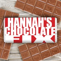 Hampers and Gifts to the UK - Send the Personalised Chocolate Bar Any Name