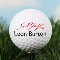 Hampers and Gifts to the UK - Send the Personalised Golf Ball - No.1 Golfer
