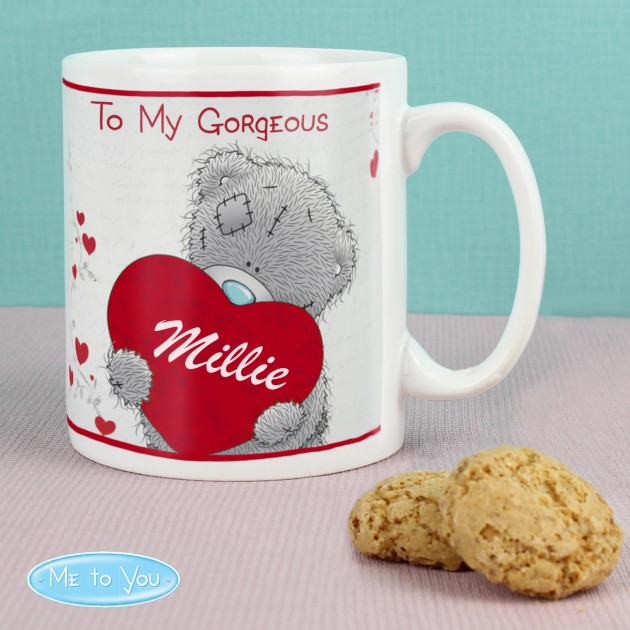 Hampers and Gifts to the UK - Send the Personalised Me to You Big Heart Mug