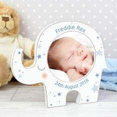 Hampers and Gifts to the UK - Send the Personalised Elephant and Stars Photo Frame
