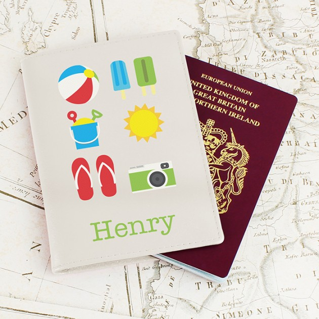Hampers and Gifts to the UK - Send the Personalised Bright Travel Passport Holder