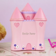 Hampers and Gifts to the UK - Send the Personalised Castle Money Box