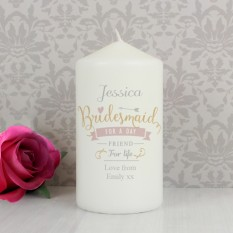 Hampers and Gifts to the UK - Send the I Am Glad... Bridesmaid Personalised Candle