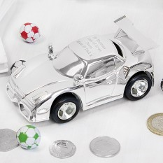 Hampers and Gifts to the UK - Send the Personalised Racing Car Money Box