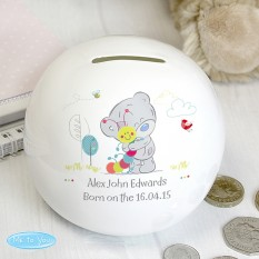 Hampers and Gifts to the UK - Send the Personalised Tiny Tatty Teddy Caterpillar Money Box