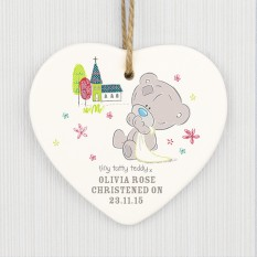 Hampers and Gifts to the UK - Send the Personalised Tiny Tatty Teddy Heart Decoration