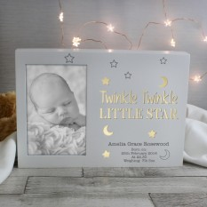 Hampers and Gifts to the UK - Send the Personalised Twinkle Twinkle Light Up Frame