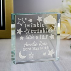 Hampers and Gifts to the UK - Send the Personalised Twinkle Twinkle Crystal Token