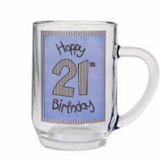 Hampers and Gifts to the UK - Send the 21st Birthday Blue Beer Tankard