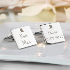 Hampers and Gifts to the UK - Send the Personalised Decorative Wedding Cufflinks - Best Man
