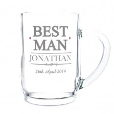 Hampers and Gifts to the UK - Send the Best Man Tankard - Personalised