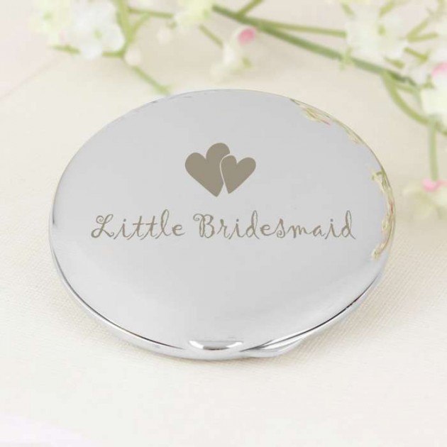 Hampers and Gifts to the UK - Send the Little Bridesmaid Compact Mirror